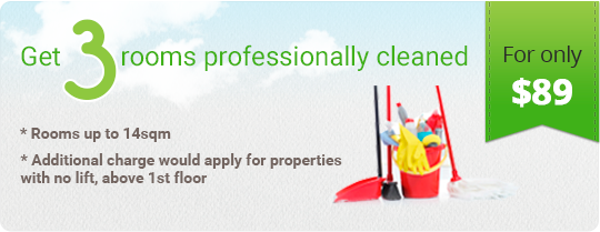 Get 3 Rooms Professionally Cleaned for only $89