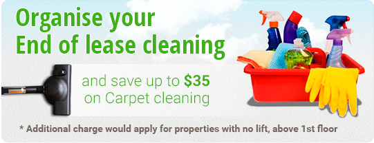 Organise your End of lease cleaning and save up to $35 on Carpet cleaning